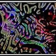 Zebra Twist Art Print