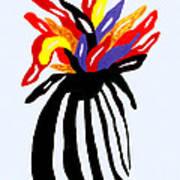 Zebra Vase Art Print
