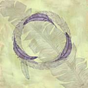 Zen Feather Circle I I I Art Print