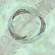 Zen Feather Circle I I Art Print