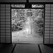 Zen Garden Walkway Art Print