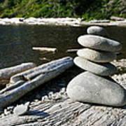 Zen Rocks Art Print