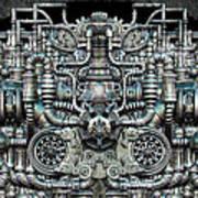 Zengine V1 Art Print by Pixel Chemist