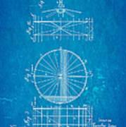Zeppelin Navigable Balloon Patent Art 2 1899 Blueprint Art Print