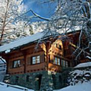 Zermatt Chalet Art Print