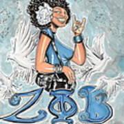 Zeta Phi Beta Sorority Inc Art Print by Tu-Kwon Thomas