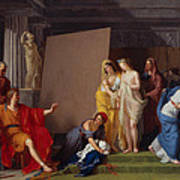 Zeuxis Choosing His Models For The Image Of Helen From Among The Girls Of Croton Art Print