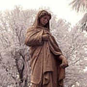 Ziba King Memorial Statue Front View Florida Usa Near Infrared Se Art Print