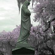 Ziba King Memorial Statue Side View Florida Usa Near Infrared Gr Art Print