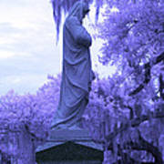 Ziba King Memorial Statue Side View Florida Usa Near Infrared Art Print