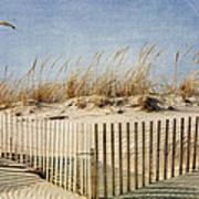 Zig Zag Beach Art Print