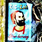 Zig Zag Double Wide Art Print