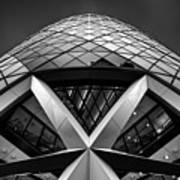 Zigzag (the  Gherkin) Art Print