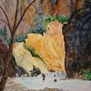 Zion Hike Art Print