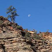 Zion National Park Moonrise Art Print