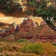 Zion National Park Work Of Art  Art Print
