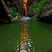 Zion Reflections - The Narrows At Zion National Park. Art Print