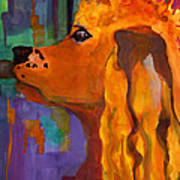 Zippy Dog Art Art Print by Blenda Studio