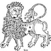 Zodiac Leo, 1482 Art Print