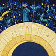 Zodiac Moon Art Print