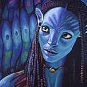 Zoe Saldana As Neytiri In Avatar Art Print