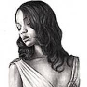 Zoe Saldana Art Print