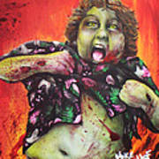 Zombie Chunk Art Print
