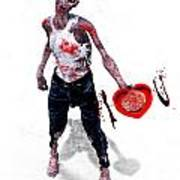 Zombie Love Art Print by Frederico Borges