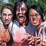 Zombie Run Nola 24 Art Print