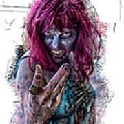 Zombie Want You Art Print