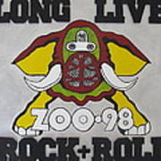Zoo 98 Elephant Rock And Roll Art Print