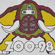 98 Kzew Radio Logo Art Print