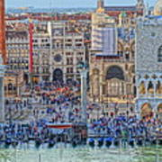 Zoom On St Marks Square Venice Italy Art Print