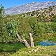 Zrmanja River And Velebit Mountain Art Print