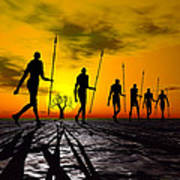 Zulu Warrior Trek Art Print