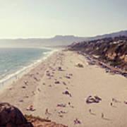 Zuma Beach At Sunset Malibu, Ca Art Print
