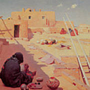 Zuni Pottery Maker Art Print by William Robinson Leigh