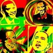 4 Rasta Obama Art Print by Tony B Conscious