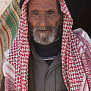 A Bedouin Man At The Camera In Front Art Print by Taylor S. Kennedy