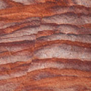 A Close View The Layered Sandstone Art Print by Taylor S. Kennedy