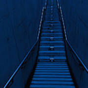 A Long Narrow Flight Of Stairs Art Print by Lawren Lu