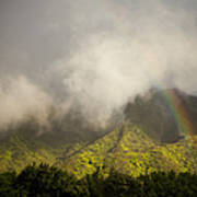 A Rainbow Shines Over The Rugged Art Print by Taylor S. Kennedy