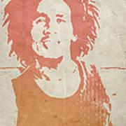 Bob Marley Brown Art Print by Naxart Studio