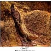 Bronze Lizard Art Print