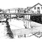 Canal Ellenville Art Print