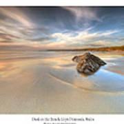 Dusk On The Beach Art Print