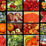 Fruits Collage Art Print