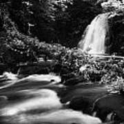 Gleno Or Glenoe Waterfall Beauty Spot County Antrim Northern Ireland Print by Joe Fox