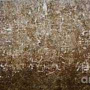 Grunge Concrete Wall Texture Art Print