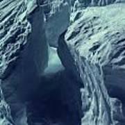 Ice Snow In Austria Mountain   Art Print